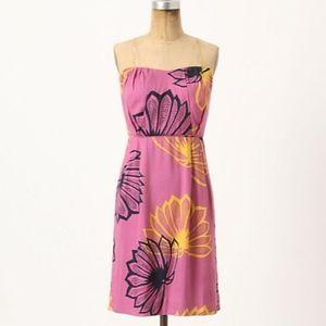 Anthropologie Sariah Agave Burst Mini Dress Sz 6